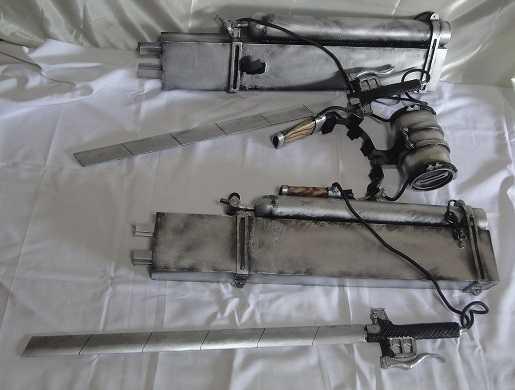 how to make 3d maneuver gear sword
